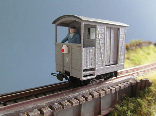009 G.V.R. Brake Van  in White Strong & Flexible Polished