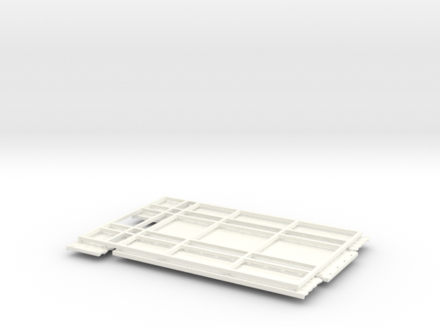 KN 24ft Low side Grain bed in White Processed Versatile Plastic