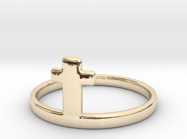 Crossring (approx. size 8) in 14K Yellow Gold