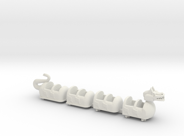 dragon coaster in White Natural Versatile Plastic