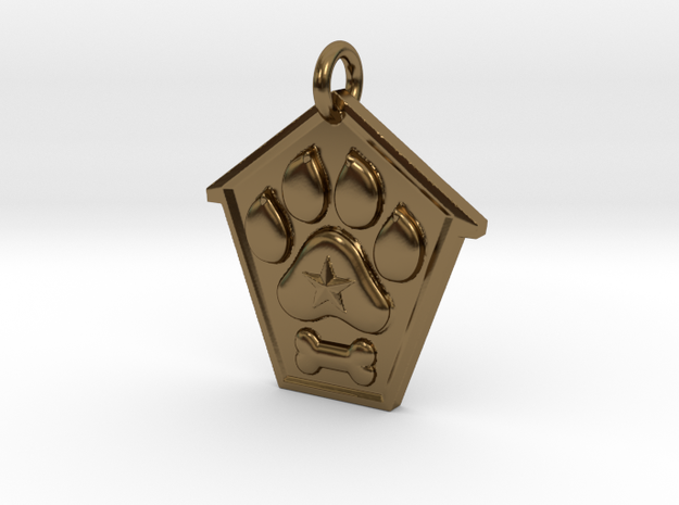 Pup Tag Nero in Polished Bronze