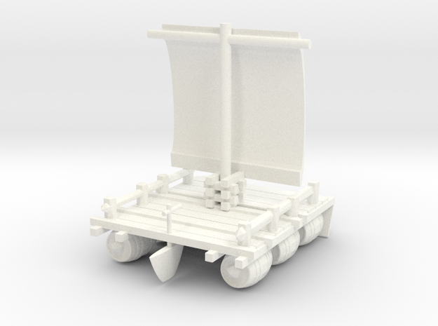 Raft Float or exhibition over the small details in White Processed Versatile Plastic