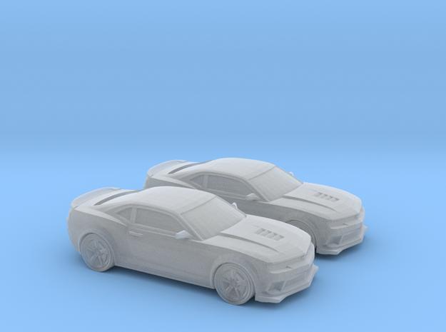 1/200 2X 2014 Chevrolet Camaro z28 in Smooth Fine Detail Plastic
