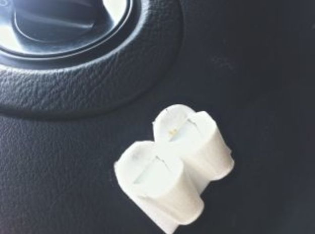 Earplug holder for vehicles 3d printed Double face tape onto dash in a handy spot. In my car below the headlight switch.