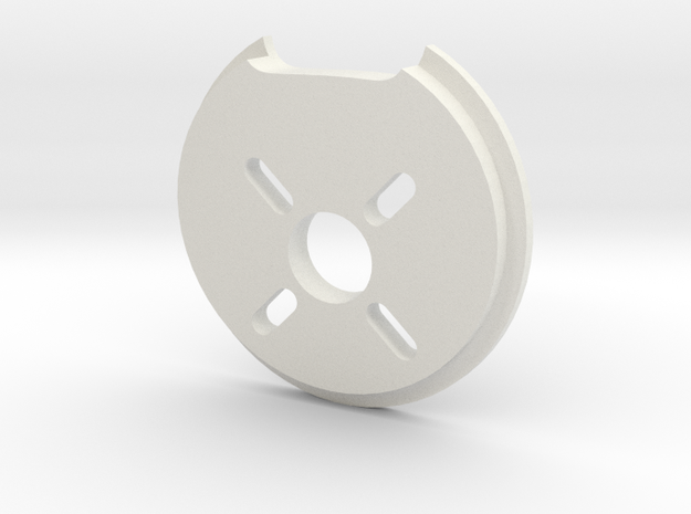 Ranger EX Motor Mount (pitch 3°, yaw 2°) in White Natural Versatile Plastic
