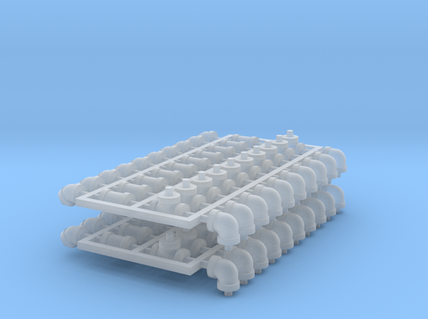 Set 20ea in Smooth Fine Detail Plastic