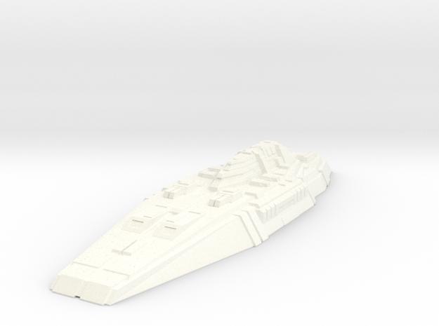 Battleship Concept - Savior in White Processed Versatile Plastic