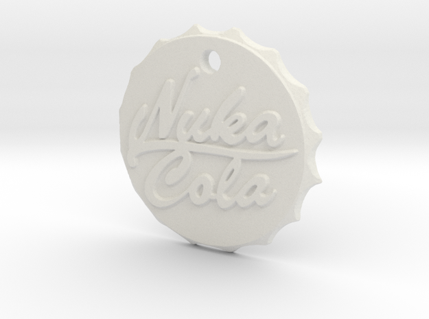 Nuka Cola Cap Pendant in White Natural Versatile Plastic