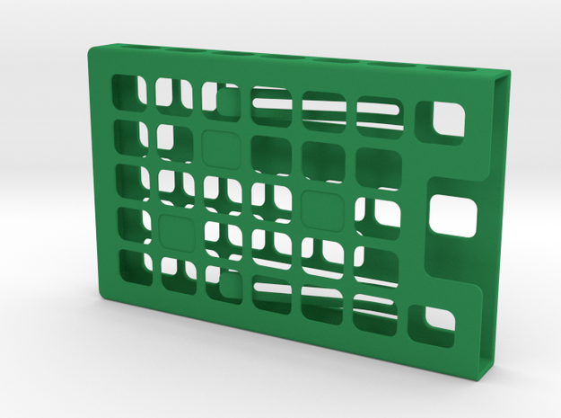 Card Holder-customized in Green Strong & Flexible Polished