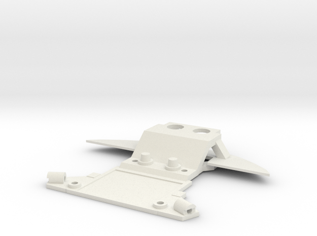 Subchassis V7 Audi Front in White Natural Versatile Plastic