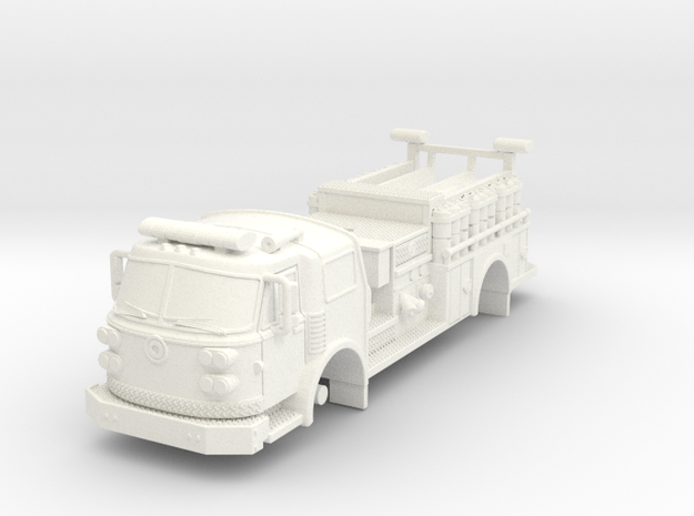 1/87 Super Pumper ALF sateilite body in White Strong & Flexible Polished