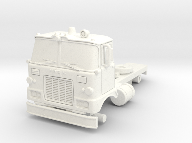1/87 Super Pumper/Tender Cab in White Processed Versatile Plastic