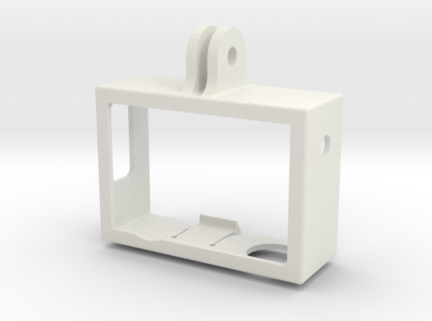 GoPro Camera Light Weight Cage Frame in White Natural Versatile Plastic