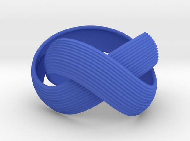 Double Swing Grooved Bracelet XL 61 in Blue Processed Versatile Plastic