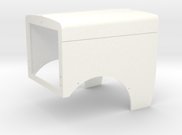 Pete 389 Style Hood in White Processed Versatile Plastic