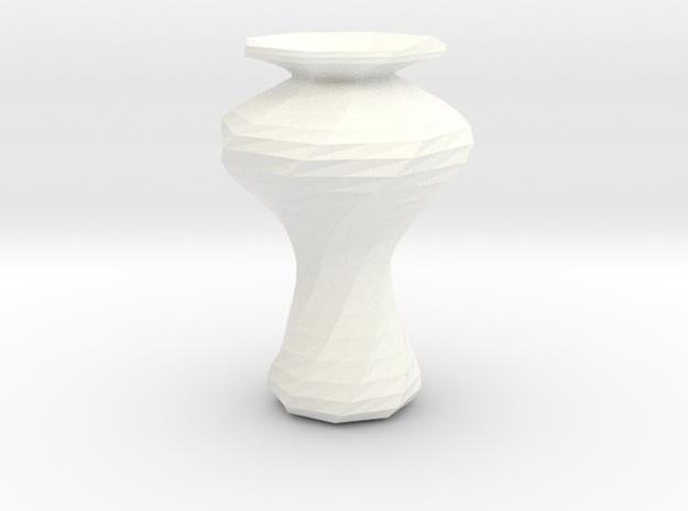 Sake Flute 01 in White Processed Versatile Plastic