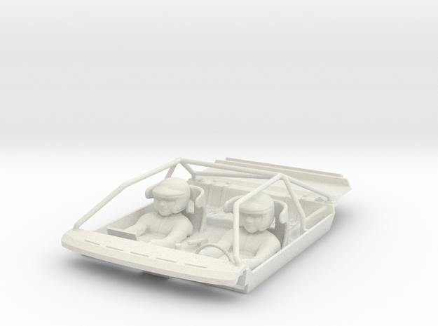 S04-SA1 Cockpit for Scalextric Audi Sport Quattro in White Natural Versatile Plastic