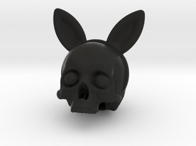 Bunnyears Skull - Halloween in Black Natural Versatile Plastic