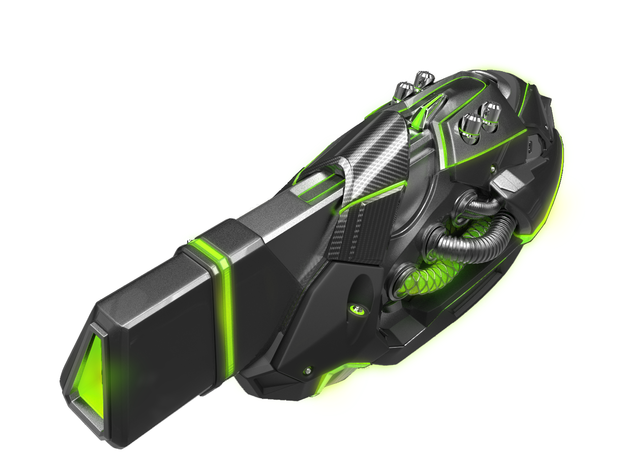Nuke Exclusive Weapon: Decimator in White Strong & Flexible Polished