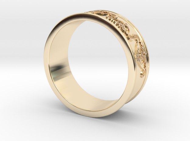 Decorative Ring 2 in 14k Gold Plated