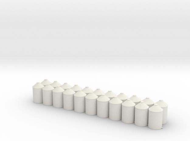 HO 1/87 Cylinder Bin 4' x 7' for flatcar loads