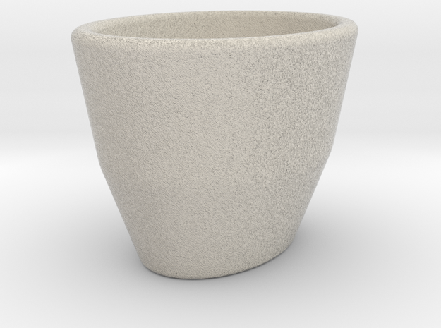 Espresso Cup - Oval - Cup (repaired) in Sandstone