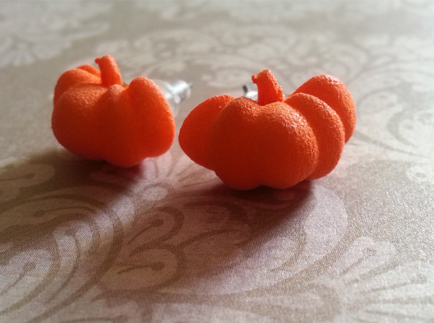 Fairytale Pumpkin Stud Earrings