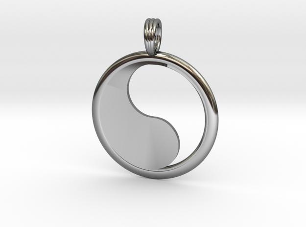 YIN-YANG HOLLOW in Fine Detail Polished Silver