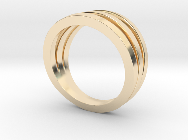 Triband Ring in 14K Yellow Gold