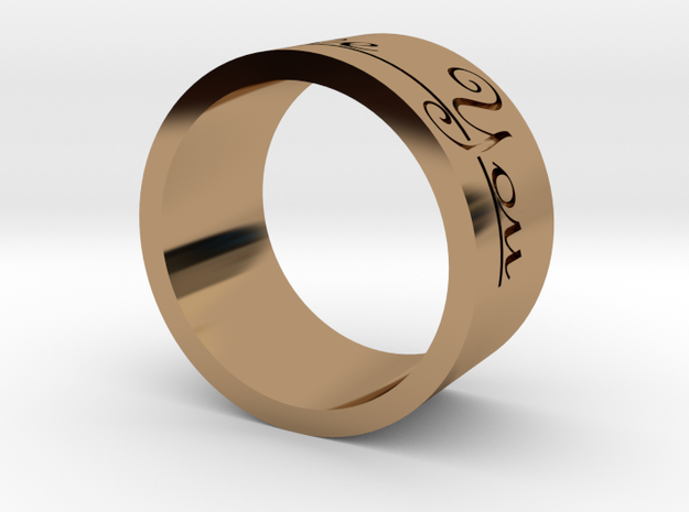 Ring (I Love You) in Polished Brass