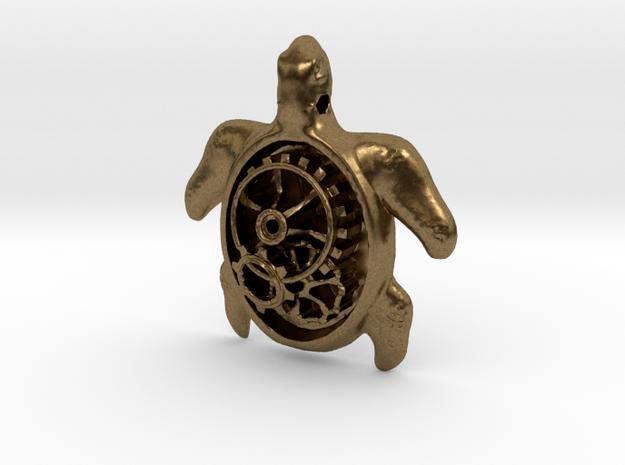 MECHA MOMO pendant  in Natural Bronze