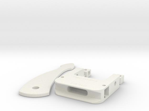 Pre-Pro #1 Collar Buckle Body & Clip in White Natural Versatile Plastic