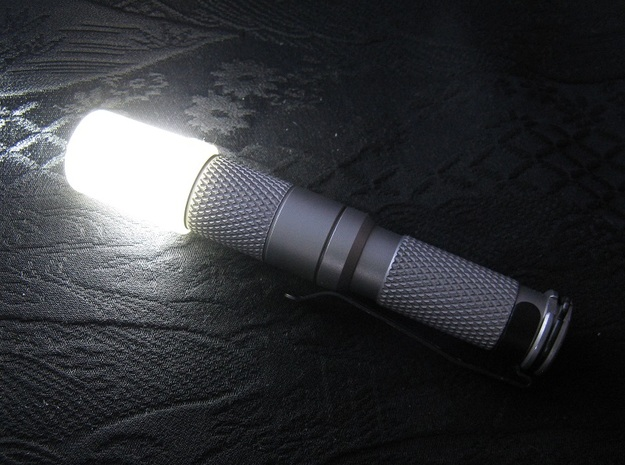 14mm Flashlight Diffuser (Flat Top) in Smooth Fine Detail Plastic