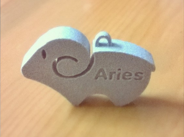 Simple Aries Keychain