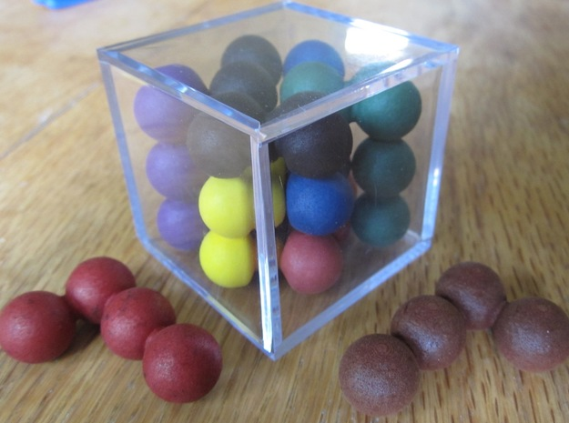 Ell of a puzzle (spheres) in White Processed Versatile Plastic