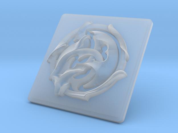 DeeCee Hawian Bumper Emblem in Smoothest Fine Detail Plastic