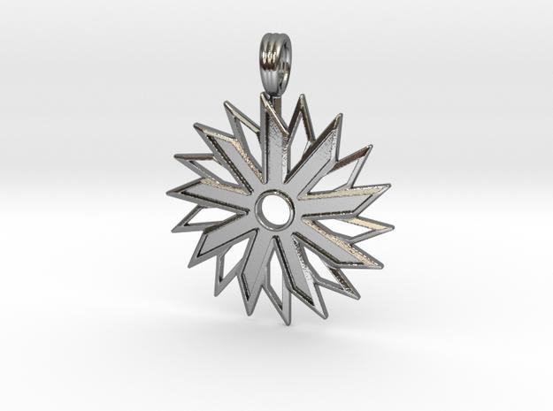 VORTEX STAR in Polished Silver