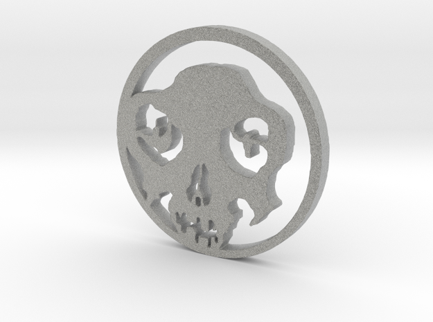 Day of the Dead Pendent in Metallic Plastic