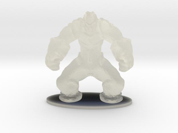 Rock Golem Earth Elemental Miniature in Transparent Acrylic