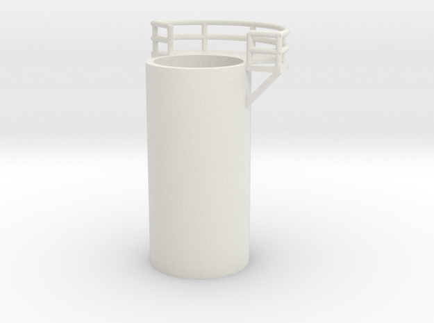 'N Scale' - 10' Distillation Tower - Middle-Left in White Natural Versatile Plastic