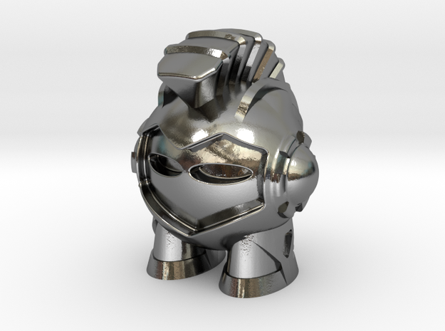 Marvin the Spartan Martian in Polished Silver