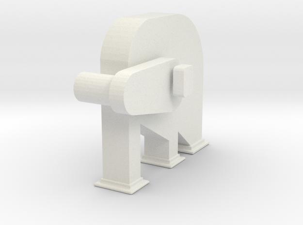 'S Scale' - Bucket Elevator - Head in White Natural Versatile Plastic