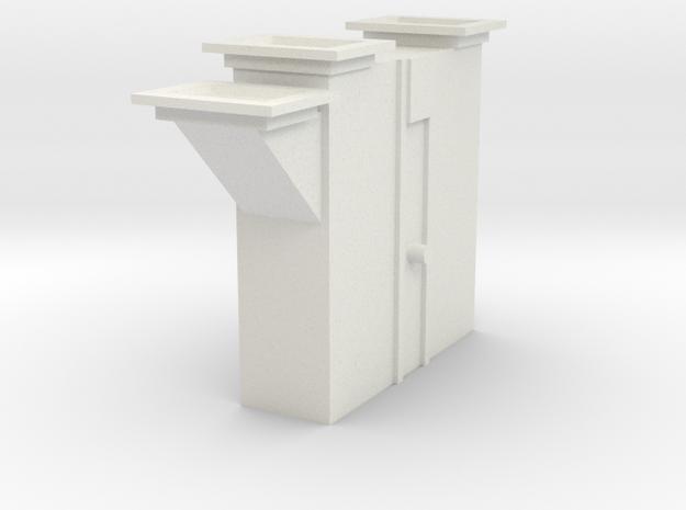 'S Scale' - Bucket Elevator Boot in White Natural Versatile Plastic