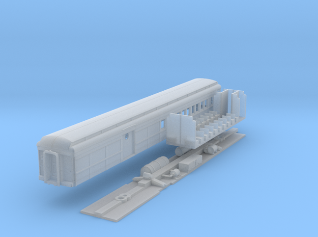 N-scale (1/160) PRR PB70 Combine in Frosted Ultra Detail