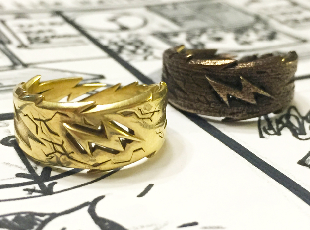 Power : Zeus Ring Size 7 in Polished Brass