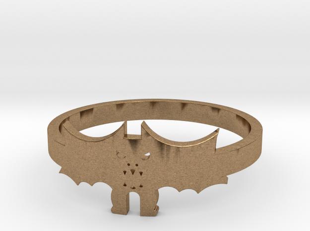 [Halloween] Bat ring in Natural Brass