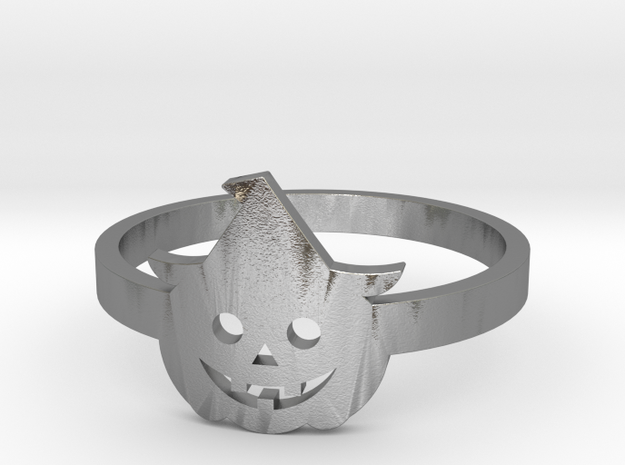 [Halloween] Pumpkin with hat in Natural Silver