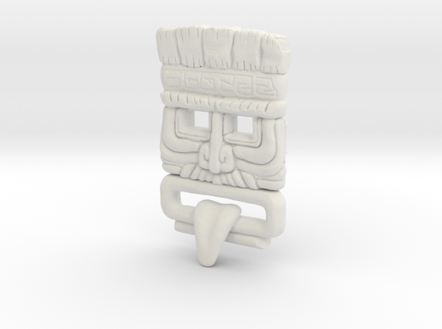 Customised Mayan Mask in White Natural Versatile Plastic
