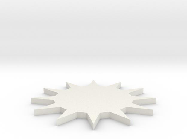 TUW14875 KAMP3799 Urenrad Sterrad in White Natural Versatile Plastic