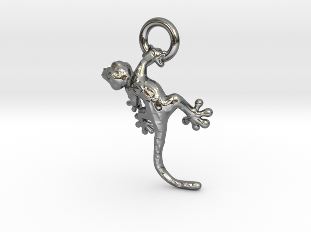 Gecko1 in Polished Silver